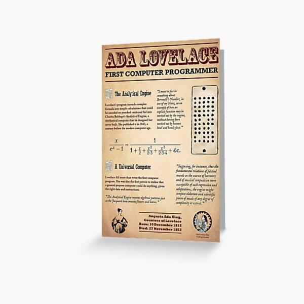 Ada Lovelace: First Computer Programmer Greeting Card