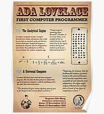 Ada Lovelace: Erster Computerprogrammierer Poster