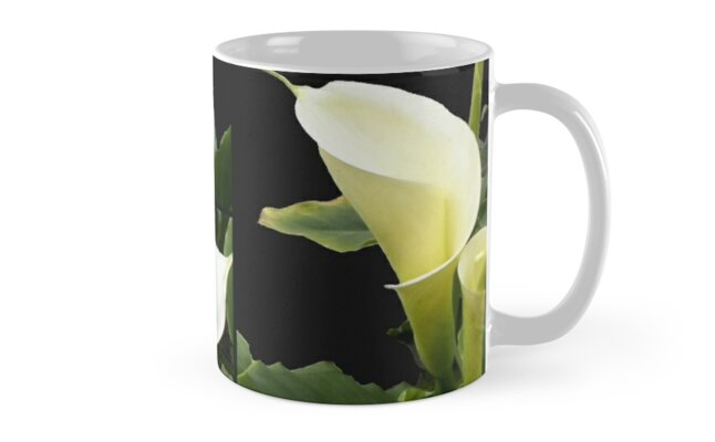 Callas lilies collage Mug by Madalena Lobao-Tello
