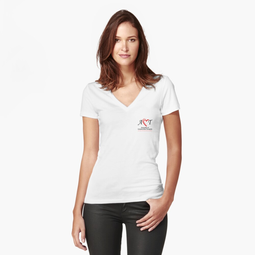 Association of Complete Mind Therapists (ACMT) Logo Fitted V-Neck T-Shirt