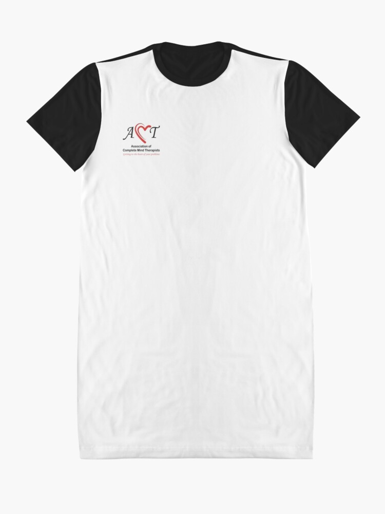 Alternate view of Association of Complete Mind Therapists (ACMT) Logo Graphic T-Shirt Dress