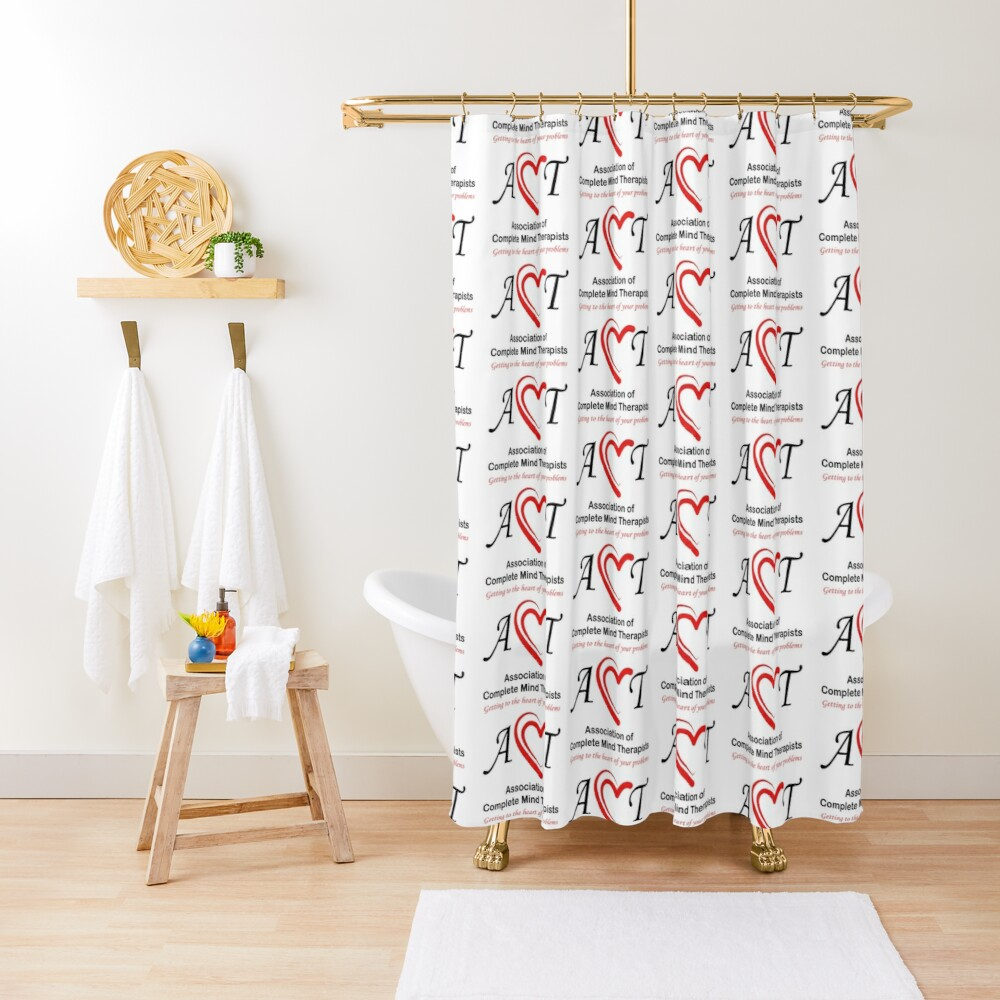 Association of Complete Mind Therapists (ACMT) Logo Shower Curtain