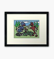 Teddy Bear And Bunny - Cannibals Framed Print