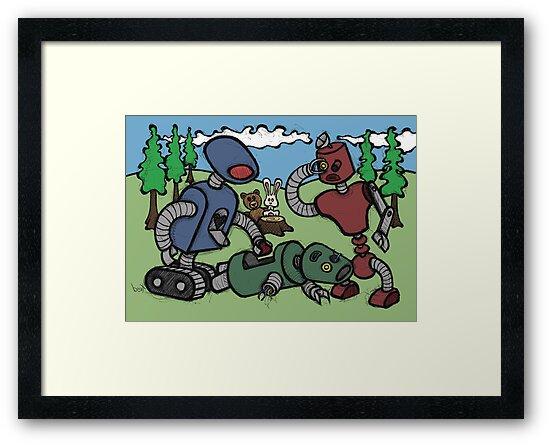 Teddy Bear And Bunny - Cannibals by Brett Gilbert