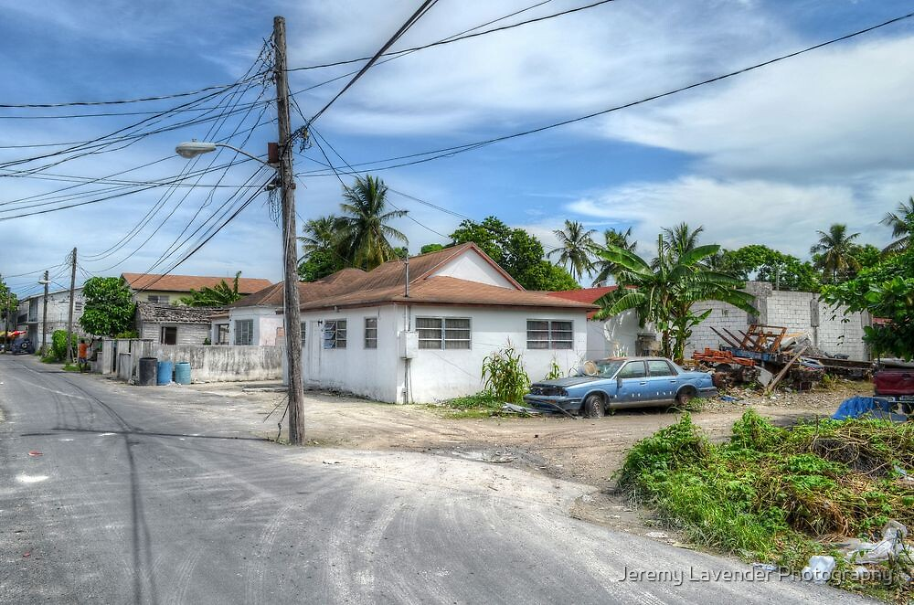 Urban area around Wulff Road in Nassau, The Bahamas by Jeremy Lavender Photography