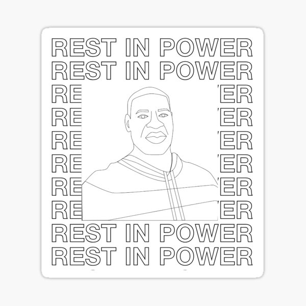"George Floyd ""Rest In Power"" Sticker"