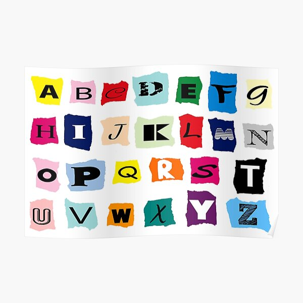letters symbols Poster