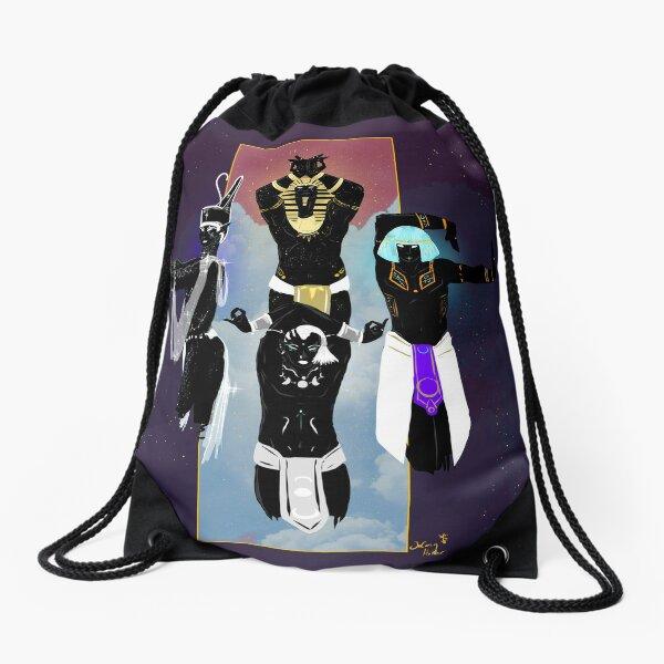 Sky Pantheon Vogue Drawstring Bag
