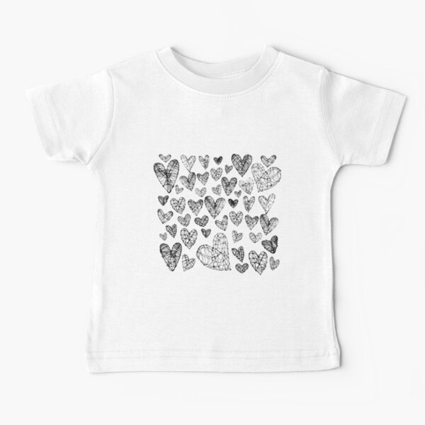 Wire Hearts Pattern Baby T-Shirt