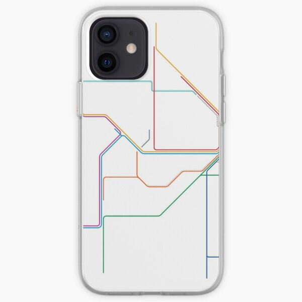 Sydney Train Map iPhone Soft Case