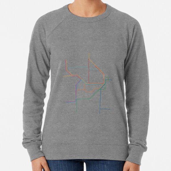 Sydney Train Map Lightweight Sweatshirt
