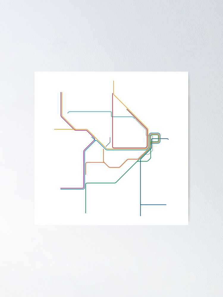 Alternate view of Sydney Train Map Poster