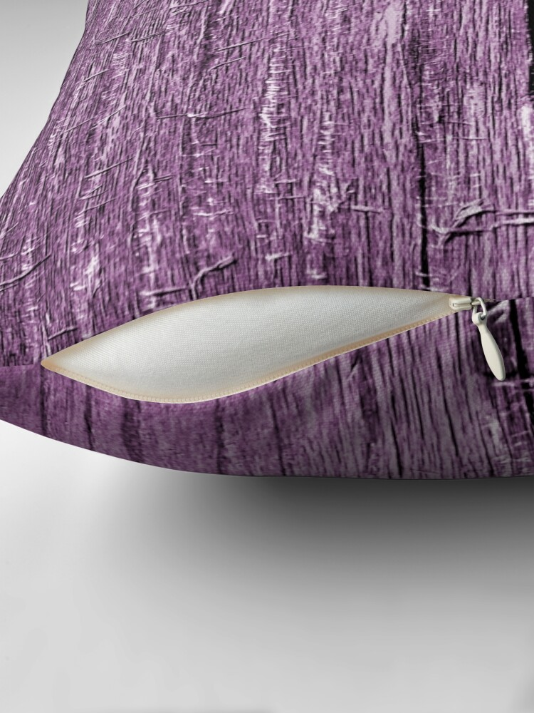 Alternate view of Rustic violet Throw Pillow