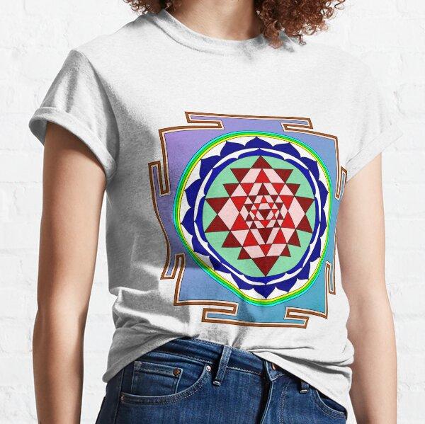 The Sri Yantra is a form of mystical diagram, known as a yantra, found in the Shri Vidya school of Hindu tantra. Classic T-Shirt