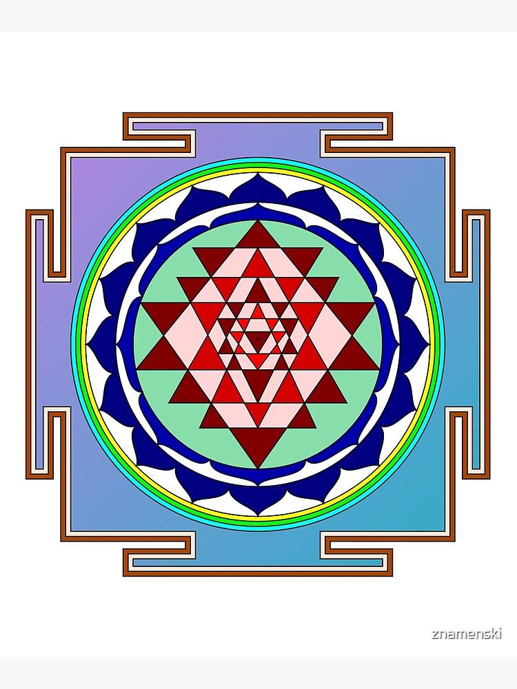 The Sri Yantra is a form of mystical diagram, known as a yantra, found in the Shri Vidya school of Hindu tantra. by znamenski