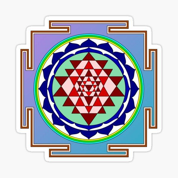 The Sri Yantra is a form of mystical diagram, known as a yantra, found in the Shri Vidya school of Hindu tantra. Sticker