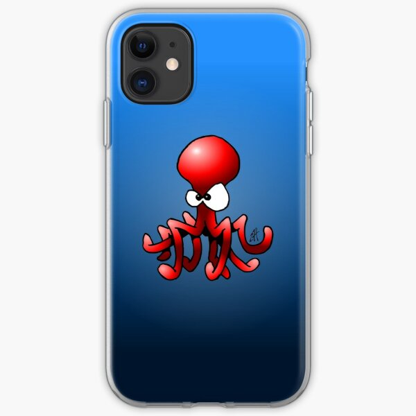 Red Octopus iPhone Soft Case