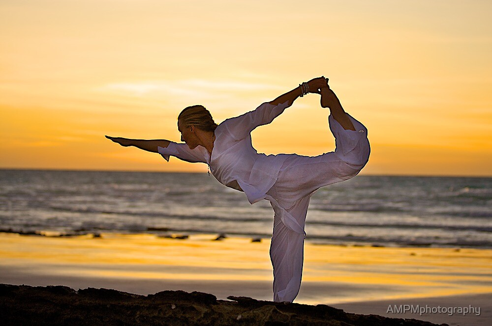Yoga Sunset by AMPMphotography