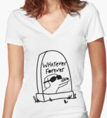 Whatever Forever Women's Fitted V-Neck T-Shirt