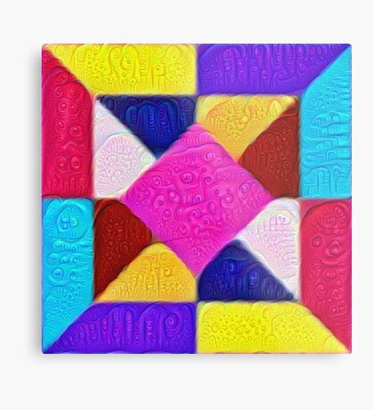 DeepDream Color Squares Visual Areas 5x5K v1447942584 Metal Print