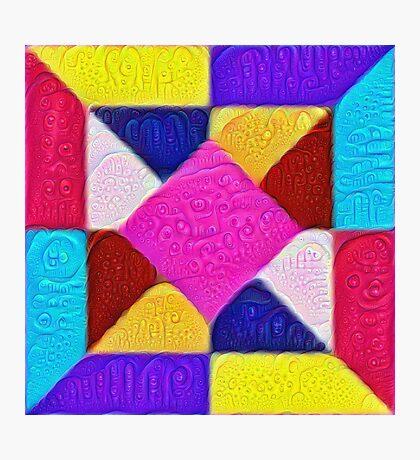 DeepDream Color Squares Visual Areas 5x5K v1447942584 Photographic Print
