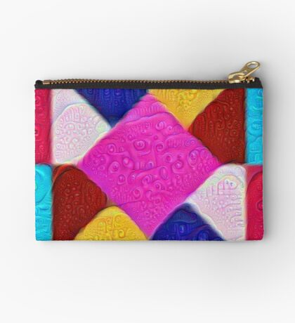 DeepDream Color Squares Visual Areas 5x5K v1447942584 Zipper Pouch