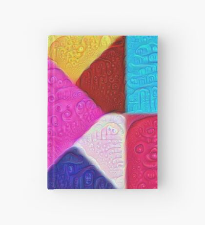 DeepDream Color Squares Visual Areas 5x5K v1447942584 Hardcover Journal