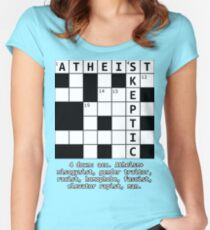 Atheism + Skepticism ≠ Atheism+ Women's Fitted Scoop T-Shirt