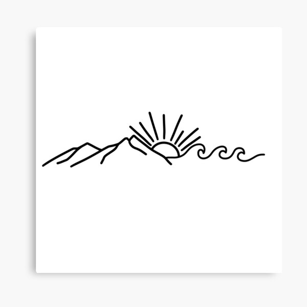Mountain and Wave Canvas Print
