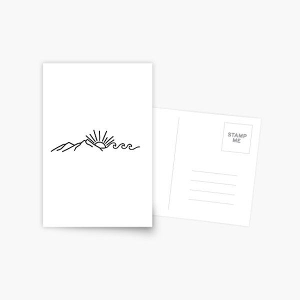 Mountain and Wave Postcard