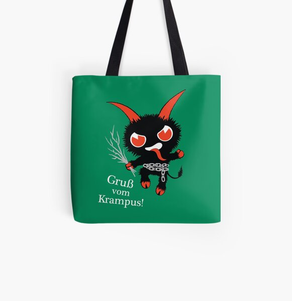 Merry Krampus All Over Print Tote Bag