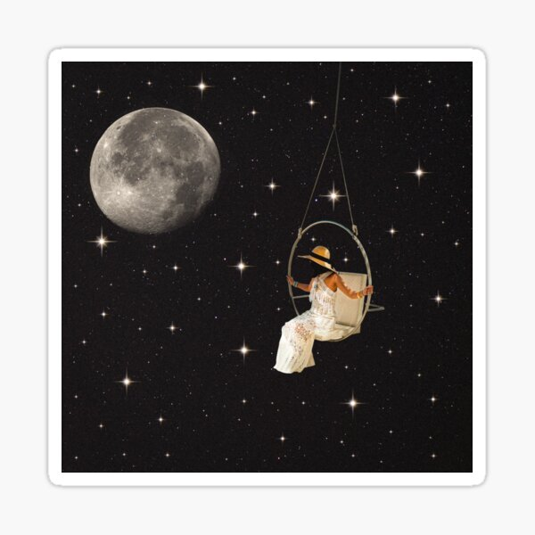 Hanging In Space Sticker