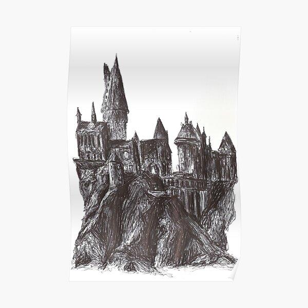 Mythische Burg im Stift Poster