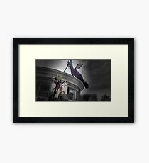 Maleficent and Prince Phillip made from LEGOS Framed Print