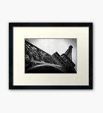 Travel BW - Paris Eiffel Tower II Framed Print