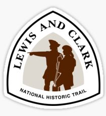 Lewis and Clark Trail Sign, USA Sticker