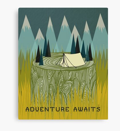 Adventure Awaits - Quote Art Canvas Print
