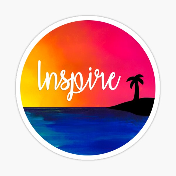 Inspire Beach Sunset Sticker