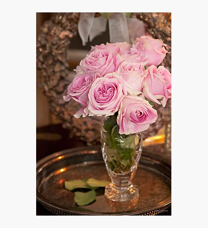 ...classic pink roses.......... Photographic Print