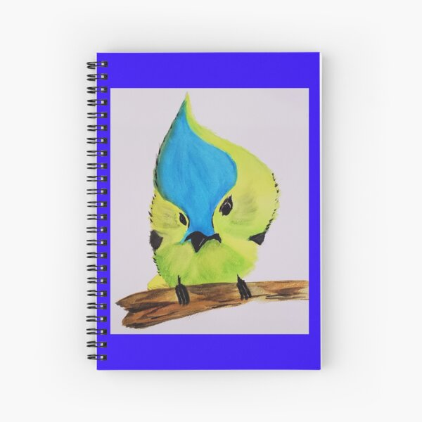(Color Background) - One Cute Bird! - from the Life is Awesome Collection by Nicole Kalajian Spiral Notebook
