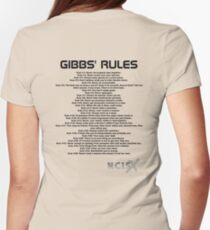 Gibbs' Rules - NCIS Womens Fitted T-Shirt