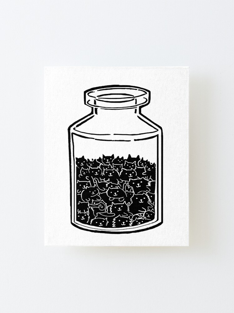 Alternate view of Cats In A Jar Mounted Print