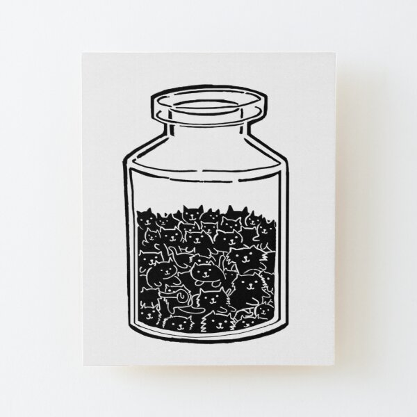 Cats In A Jar Wood Mounted Print