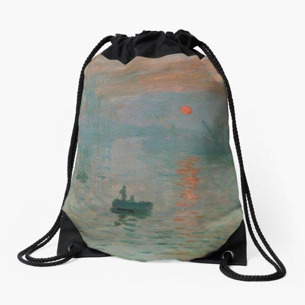 Claude Monet, French Painter - Impression, Sunrise Drawstring Bag