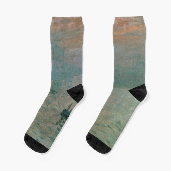 Claude Monet, French Painter - Impression, Sunrise Socks
