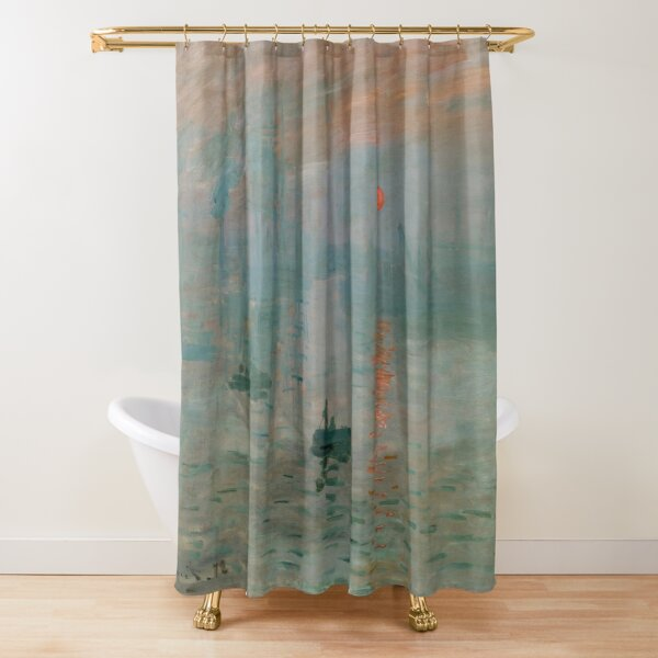 Claude Monet, French Painter - Impression, Sunrise Shower Curtain