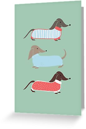 Sausage Dogs in Jumpers by abbieimagine