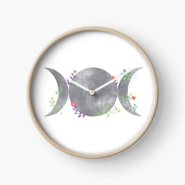 Triple Moon Triple Goddess design   Clock