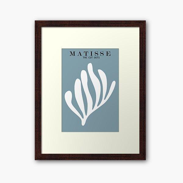 Henri Matisse - Les découpes - Blanc Impression encadrée