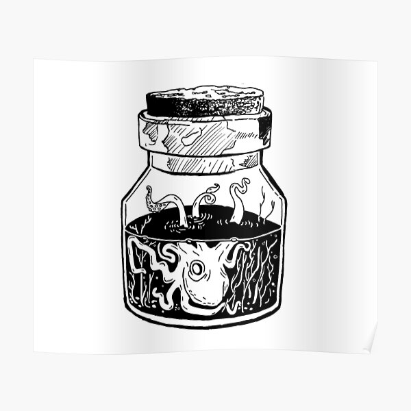 Kraken In A Jar Poster